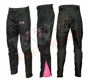 Ladies-Shannon-Waterproof-Wind-proof-Motorcycle-Motorbike-Trousers-BLACK-PINK