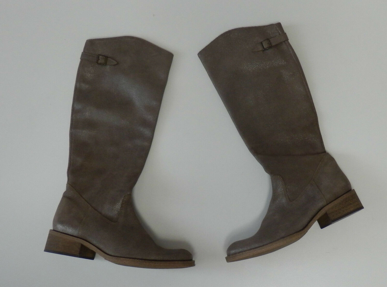 Alba moda botas de de botas cuero Taupe nuevo fcacc5