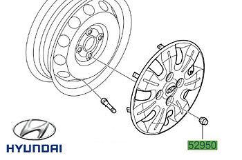 Genuine Hyundai i10 Steel Wheel Nut 529503Y000