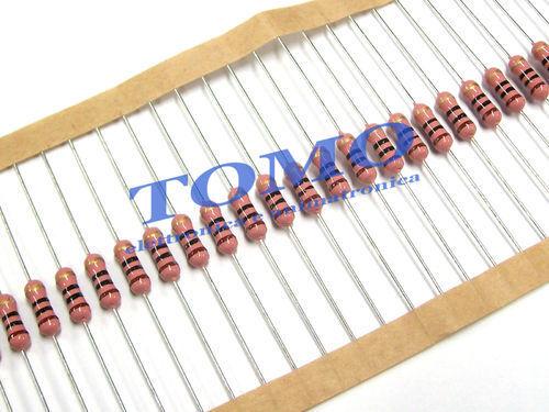 10 x Resistenza ossido metallico;THT;18R;1W; ±5/%; Ø3,2x9mm,MOF1WS-18R