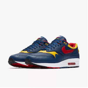 Mens Nike Air Max Premium 875844-403 Navy Gym Red Brand New Size 10.5