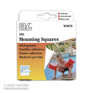 500-x-Photo-Mounting-Squares-Double-Sided-Self-Adhesive-Acid-Free-Archival-Safe