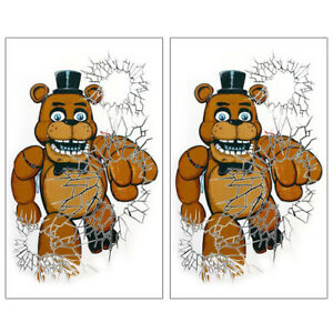 Details about FIVE NIGHTS AT FREDDY'S GIANT WINDOW POSTERS (2) ~ Birthday  Party Supplies FNaF