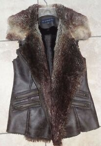 MO x Memebers Only  Faux Fur Vest Size Small