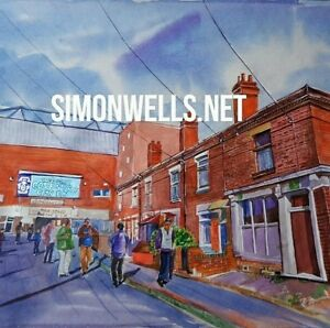 Coventry City Highfield Road art painting print. A3 gloss/silk poster from origi