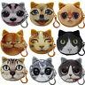 Children Cute Cat Face Zipper Case Coin Kids Purse Wallet Makeup Bag Pouch CHIC