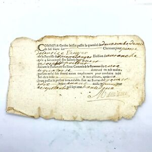 1600-1800's Authentic European Document Legal Work Paper Handwritten Old
