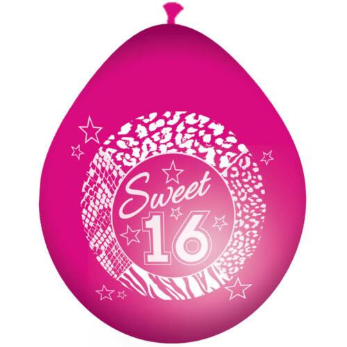 Sweet 16 Ballons Rosa 30cm 8 Stück Neu /& OVP