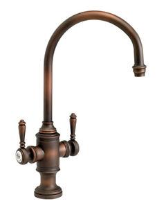 details about waterstone 8030 abz hampton two handle kitchen faucet antique bronze