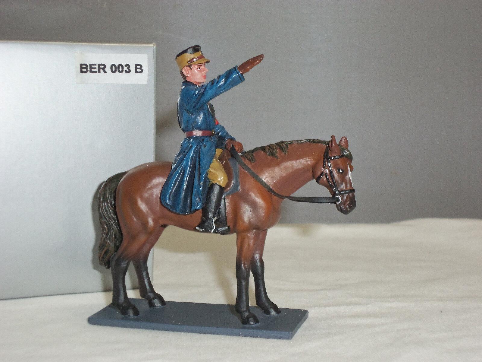 THOMAS GUNN BER003B GERMAN WORLD WAR TWO POLICEMAN MOUNTED ON HORSE FIGURE