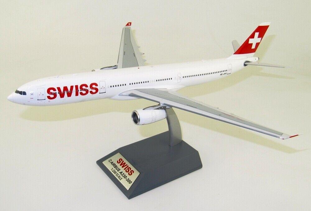 Jfox Jfa330003 1 200 Swiss Airbus  A330-300 Hb-Jha avec Pied  bienvenue pour acheter