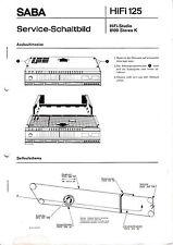 Service Manual-Anleitung für Saba HiFi Studio 8100