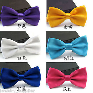 Men-039-s-Classic-Adjustable-Ties-Tuxedo-Wedding-Party-Bow-Tie-Necktie-Decor