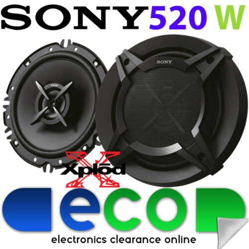 "VW Polo 2001-09 9N 9N3 MK4 SONY 16cm 6.5/"" 520 Watts 2 Way Rear Door Car Speakers"