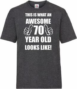 71st 71 Year Old Seventy First Birthday Presents Mens Heather Awesome T-Shirt