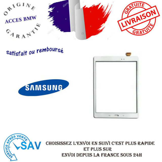 "VITRE TACTILE SAMSUNG GALAXY TAB A 9.7"" SM-T550 T551 T553 T555 BLANC"