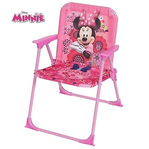 Image Is Loading Disney MINNIE MOUSE Kids Folding ARM CHAIR Children