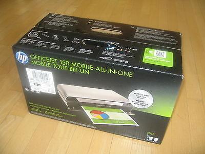 Neuf Hp Officejet 150 Mobile Portable Jet D Encre Imprimante Tout En Un Avec Batterie Ebay