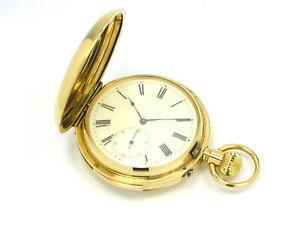 Savonette-Taschenuhr-Minutenrepetition-18kt-Gold-Emailzifferblatt-v-1885