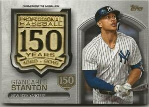 2019-Topps-Update-GIANCARLO-STANTON-150th-Anniversary-Medallion-d-150-Yankees
