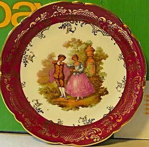 Limoges-Porcelain-China-France-16cm-Ornamental-Plate-Fragonard-Courting-Couples
