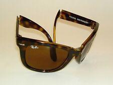 New RAY BAN Sunglasses Tortoise FOLDING WAYFARER  RB 4105 710  Brown Lenses 50mm