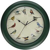 12 Bird Songs Singing Clock Birds Sounds Wall Mount -auto Night Light Sensor