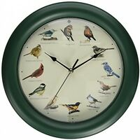 12 Bird Songs Singing Clock Birds Sounds Wall Mount -auto Night Light Sensor