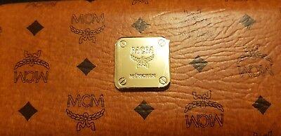 MCM Etui Large Visetos Heritage Monogramm Cognac Neu | eBay
