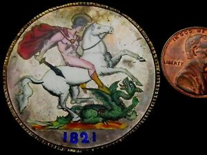 T255-1821-George-IV-Silver-Crown-Skilfully-Enameled-Stunning-Workmanship
