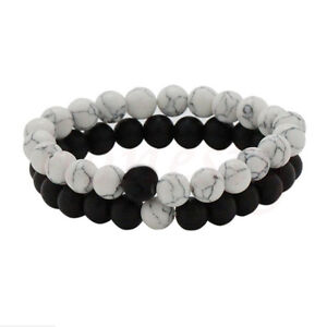 Couples-His-amp-Hers-Distance-Bracelet-Lava-Bead-Matching-YinYang-Anniversary-Gift