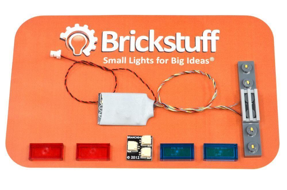 Brickstuff 6-WIDE Universal Barra Luminosa con 12 Iluminación Patterns- QK13