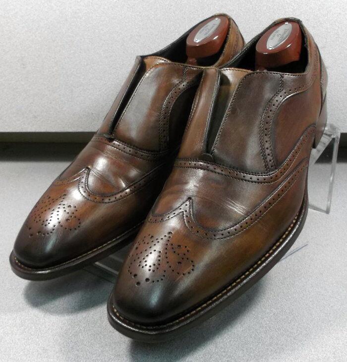 243082 PFi60 para hombres zapatos M de cuero marrón Hecha en Italia Johnston Murphy