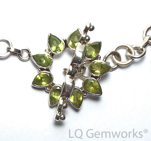 PERIDOT 925 Sterling Silver 27mm Stone Toggle Clasp /PF