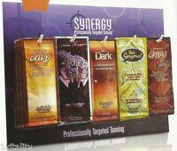Synergy Tan Counter Sachet Display Deal Sunbed Lotion Creams 48 Sachets