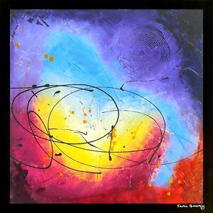 PURPLE Toile Abstraite Originale Sophie Queuniez, cotée Akoun/Artprice