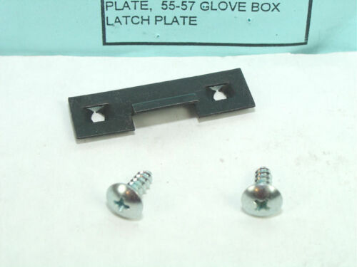 1955-57 Oldsmobile 88 Only Glove Box Latch Plate and Screws  Show Quality!