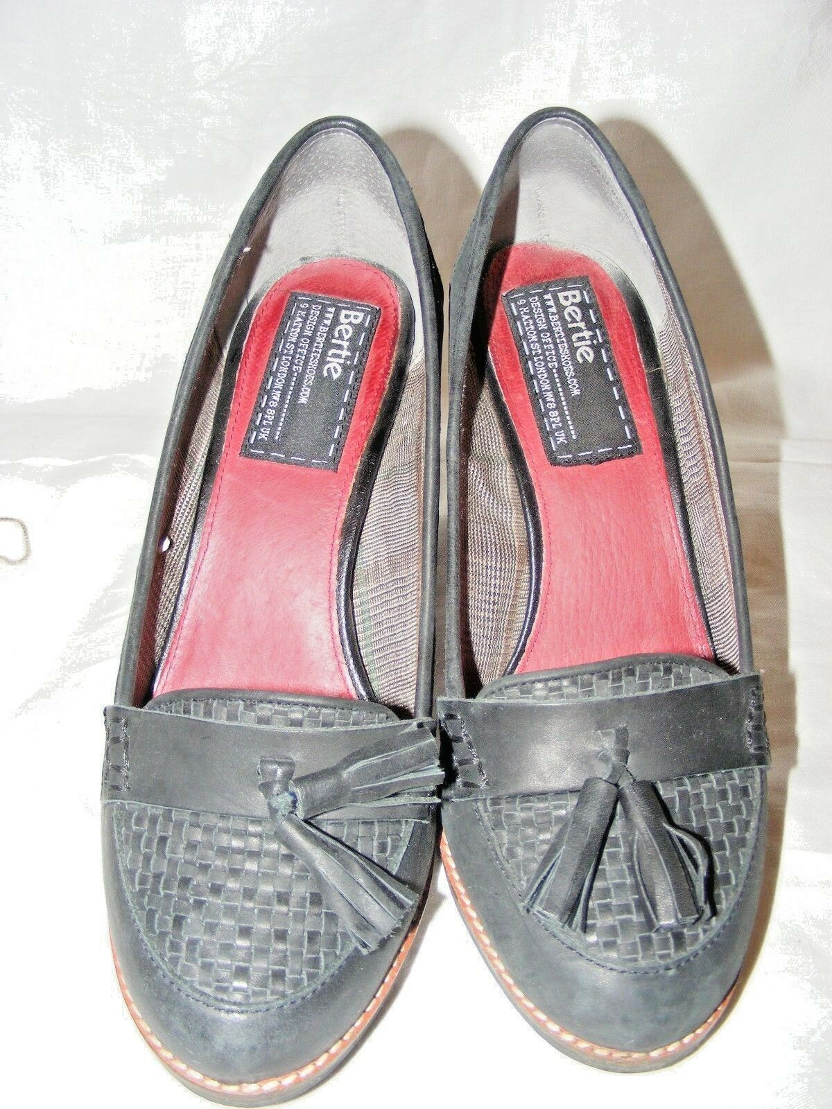 BERTIE SMART BROGUE WITH HEEL LADIES BLACK LEATHER GORGEOUS 5 SHOES EUR 38 UK 5 GORGEOUS f3036e