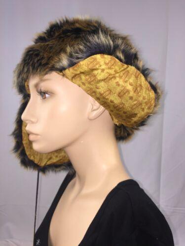 Brown Russian Trapper Fur Hat Womens Mens Ear Warm Winter Beret Cap Earflap Hat