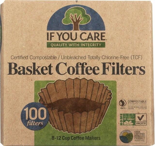If You Care Coffee Filter Baskets 1x100 Ct Fits 8 12 Cup Drip Coffee Makers
