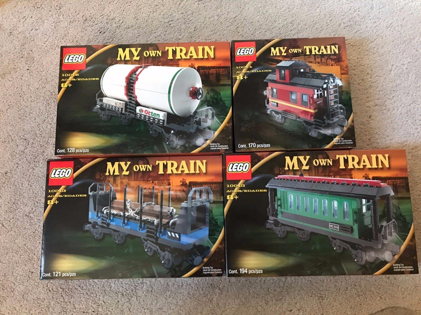 LEGO My Own Train (10013, 10014, 10015, 10016) MIB  From 2001