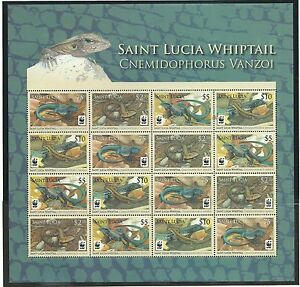 St. Lucia 2008 Endangered Species sheetlet SG1370-73 mnh, Cat.£53+.