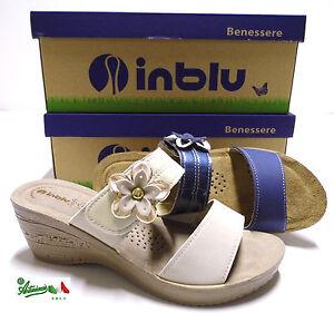 the latest 5dbb0 e328e Dettagli su OFFERTA INBLU sottopiedePELLE SOFT ciabatte pantofole donna  aperte comode GZ23