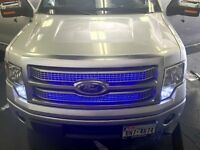 Led Truck & Car Grill Light Kit --- Show Vehicles & Driving Safety Lights -