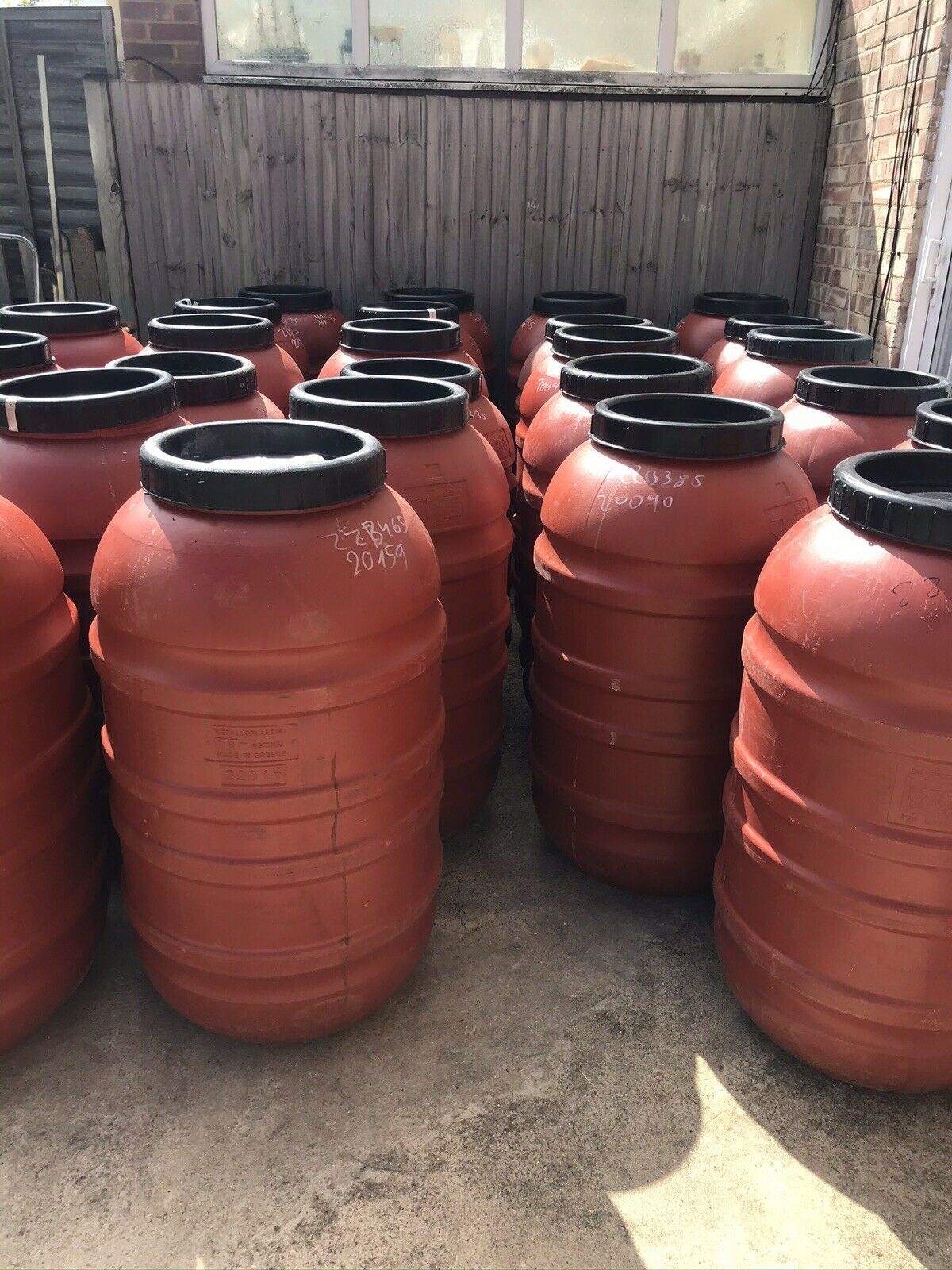 plastic barrel drum 220l, - Red - Water Storage Contain, Local Delivery Possible