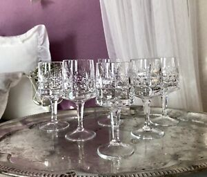 VINTAGE VETRO SMERIGLIATO 6+6 Rosso - & VINO BIANCO bicchieri di vino bicchieri cristallo vetro elegante così bello