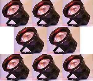 8-Par-38-Light-Cans-Stage-amp-DJ-KJ-BAND-Lighting-Dance-INCLUDES-BULBS-amp-GELS