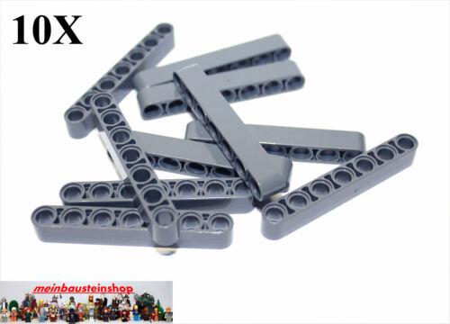10X Lego® 32524 Technic Liftarme Beams 1X7 neues Dunkelgrau Dark Bluish Gray NEU