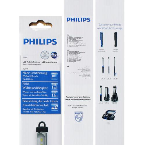 3x Philips LED Werkstattlampe RCH10 Akku Kabellos 220V Arbeitslampe LPL20X1