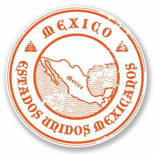 2 x Mexico Vinyl Sticker Laptop Travel Luggage Car #6694